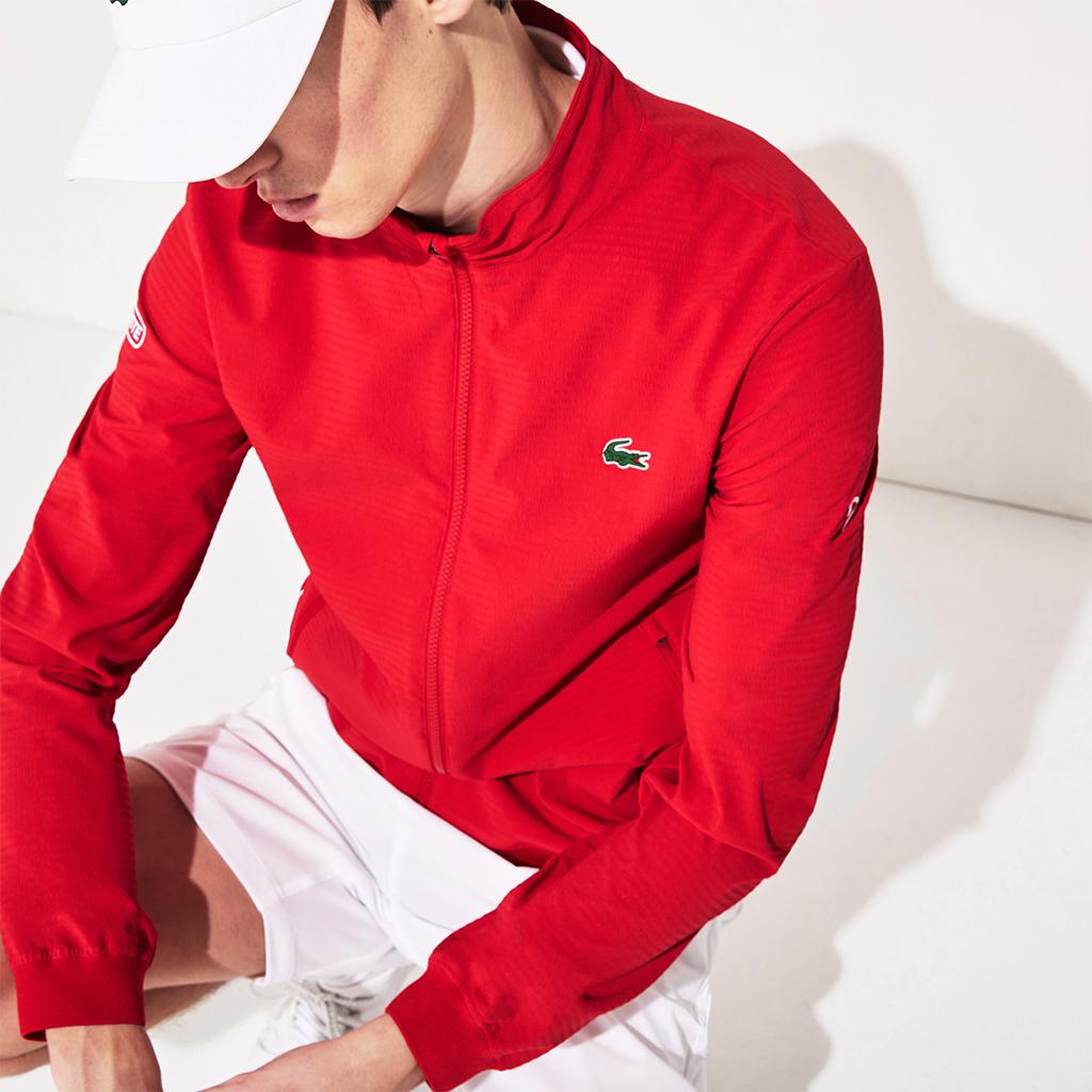 Áo khoác Lacoste SPORT Novak Djokovic khóa kéo - BH4745-51-XT7 - Đỏ
