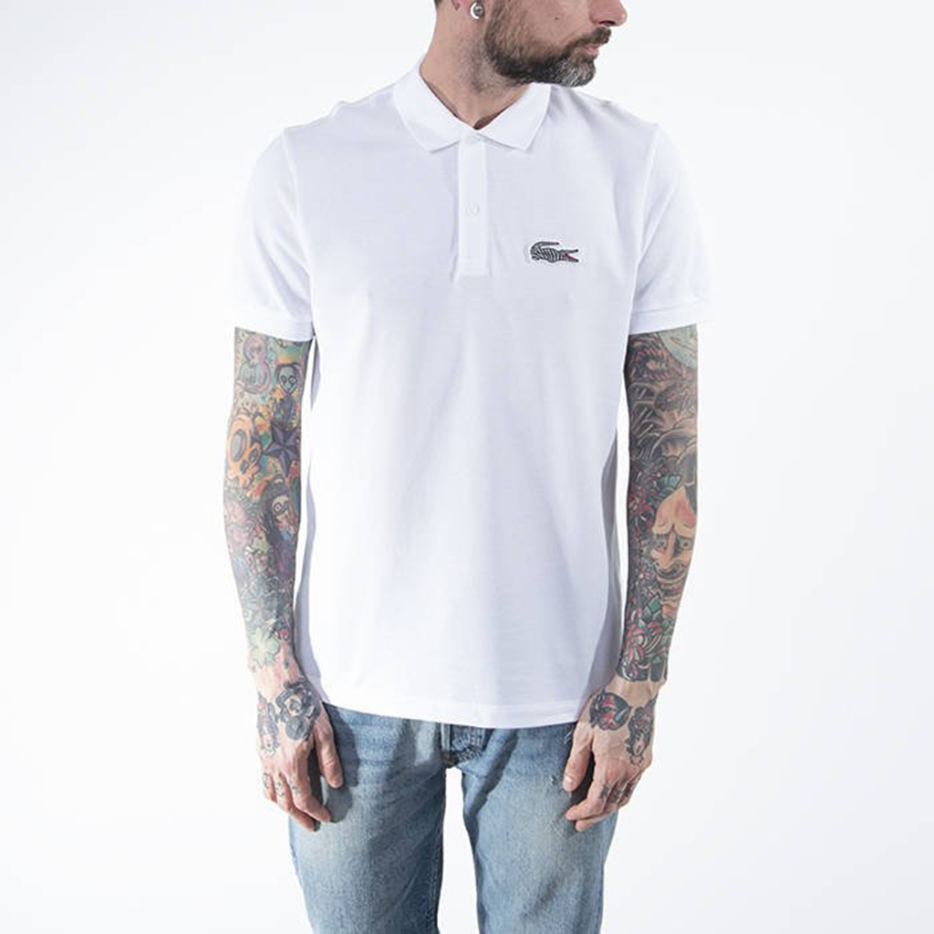 Áo Lacoste National Geographic Polo PH6286-51-6NW – Trắng