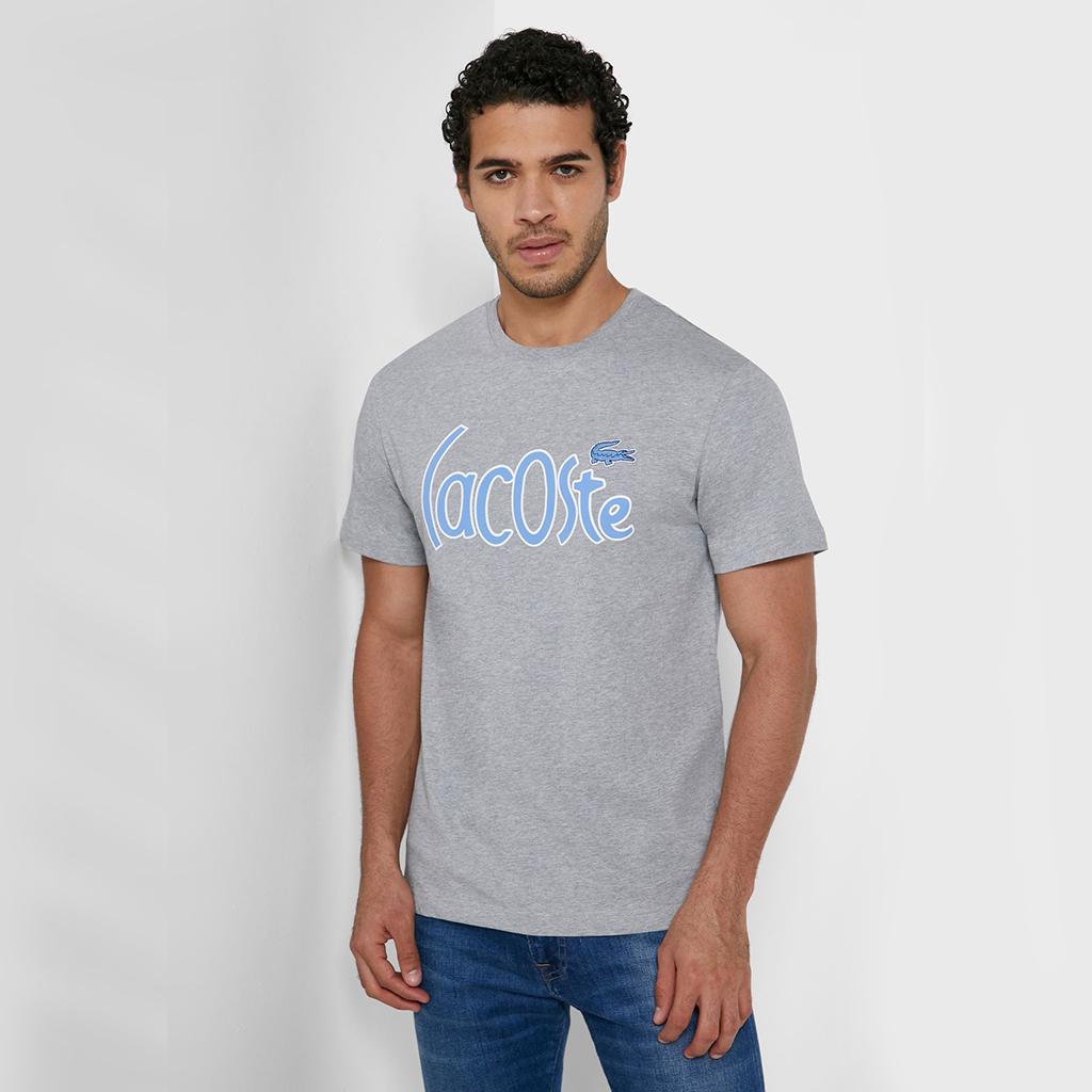 Áo Lacoste Cotton T-shirt TH0049-4JV – Ghi xám