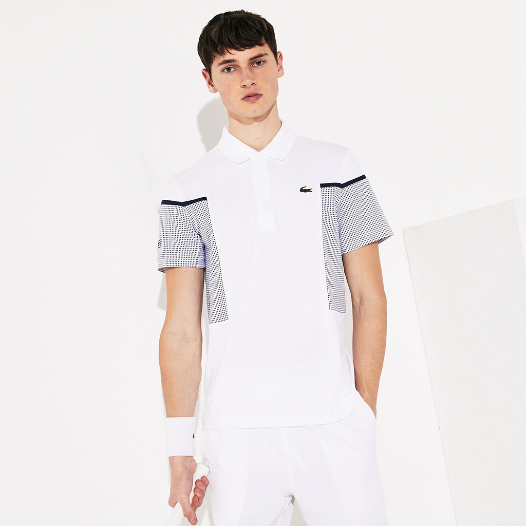 Áo Polo Lacoste SPORT Mesh Panel Breathable Tennis (Trắng)