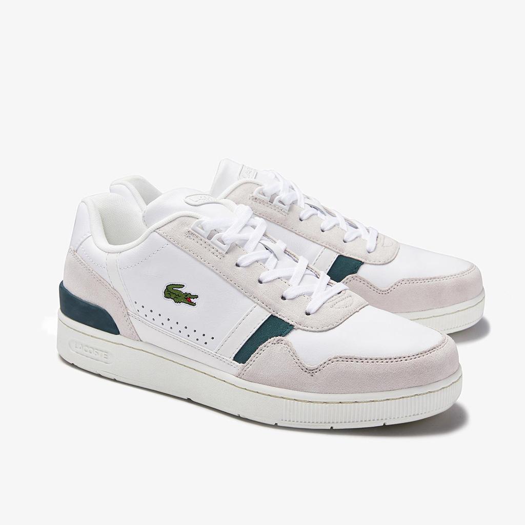 Giày Lacoste T-Clip 120 – Trắng sữa/xanh