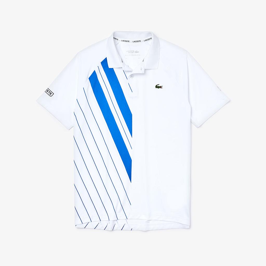 Áo Lacoste SPORT x Novak Djokovic Print Stretch Jersey Polo DH2241-51-LMQ – Trắng