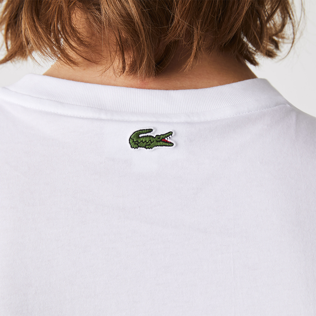Áo Lacoste Crew Neck Embroidered Logo Cotton T-shirt – Trắng