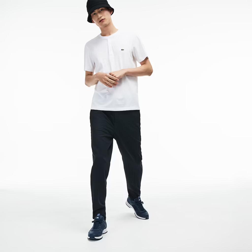 Áo Lacoste Henley Neck T-Shirt – Trắng