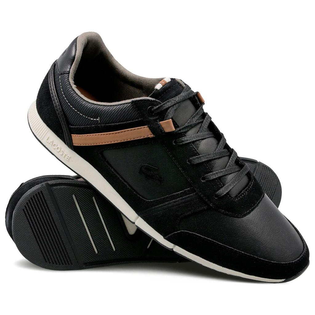 Giày Lacoste Menerva Leather (Đen)