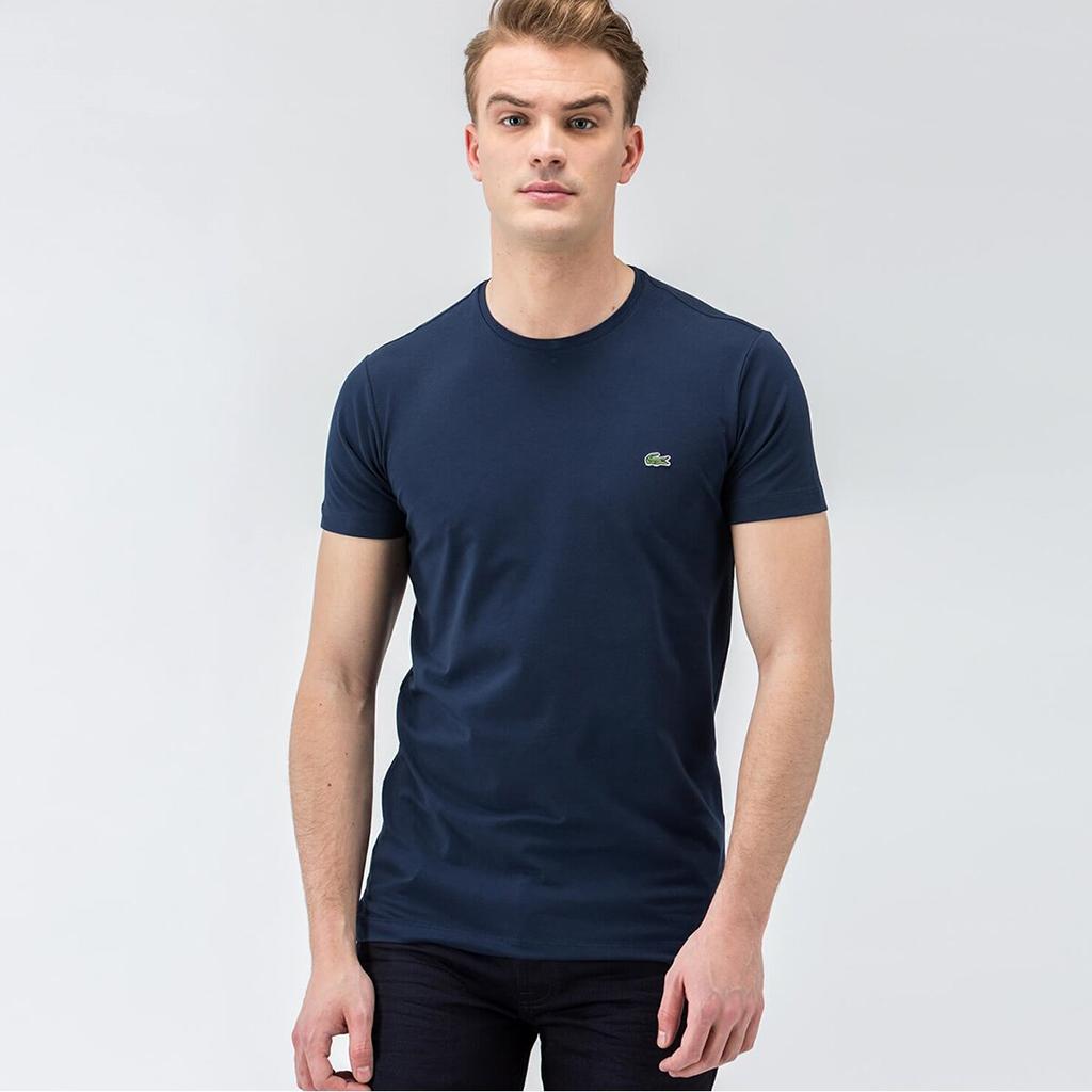 Áo Lacoste Pima Jersey Crew T-shirts – Xanh Navy