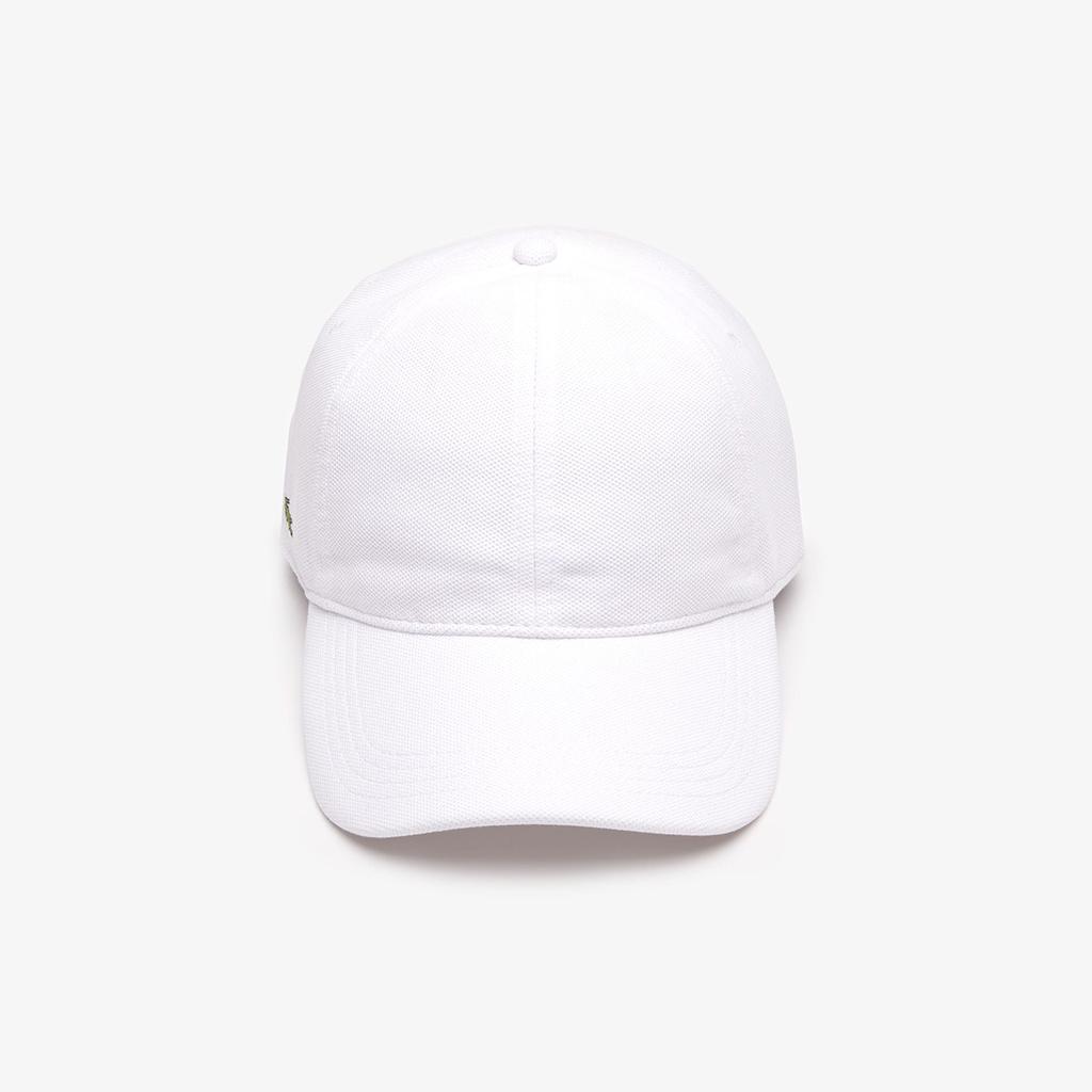 Mũ Lacoste Pique Cotton (Trắng)