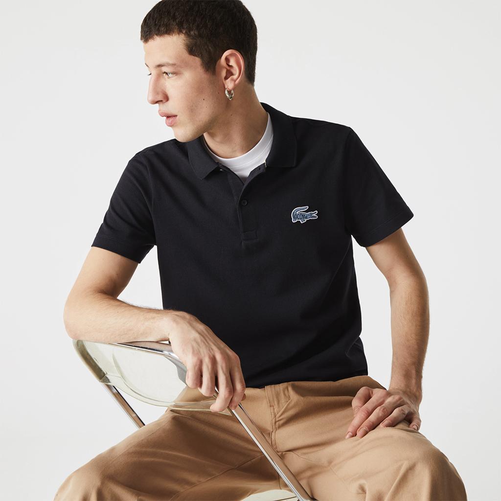Áo Lacoste Badge Cotton Piqué Polo (Regular) – Navy/Blue