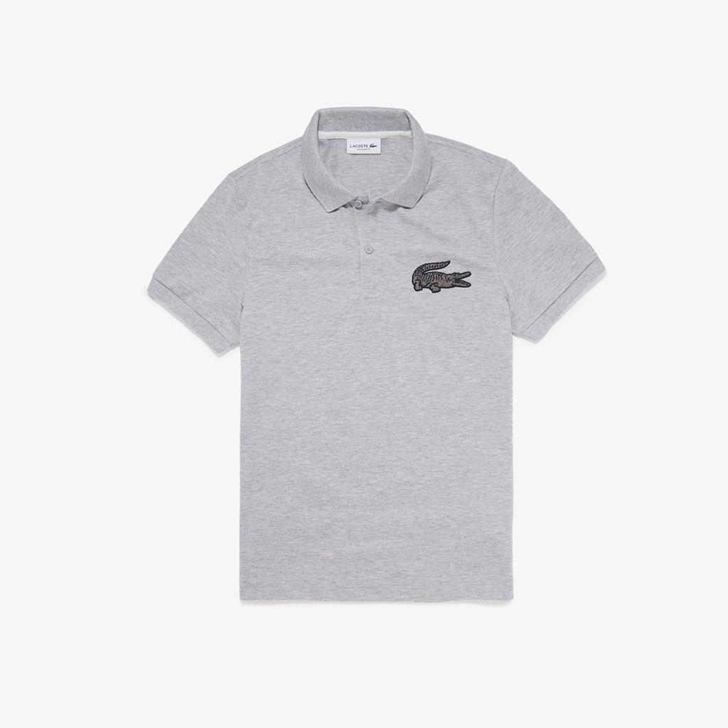 Áo Lacoste Crocodile Badge Cotton PH5835-51-CCA – Ghi xám