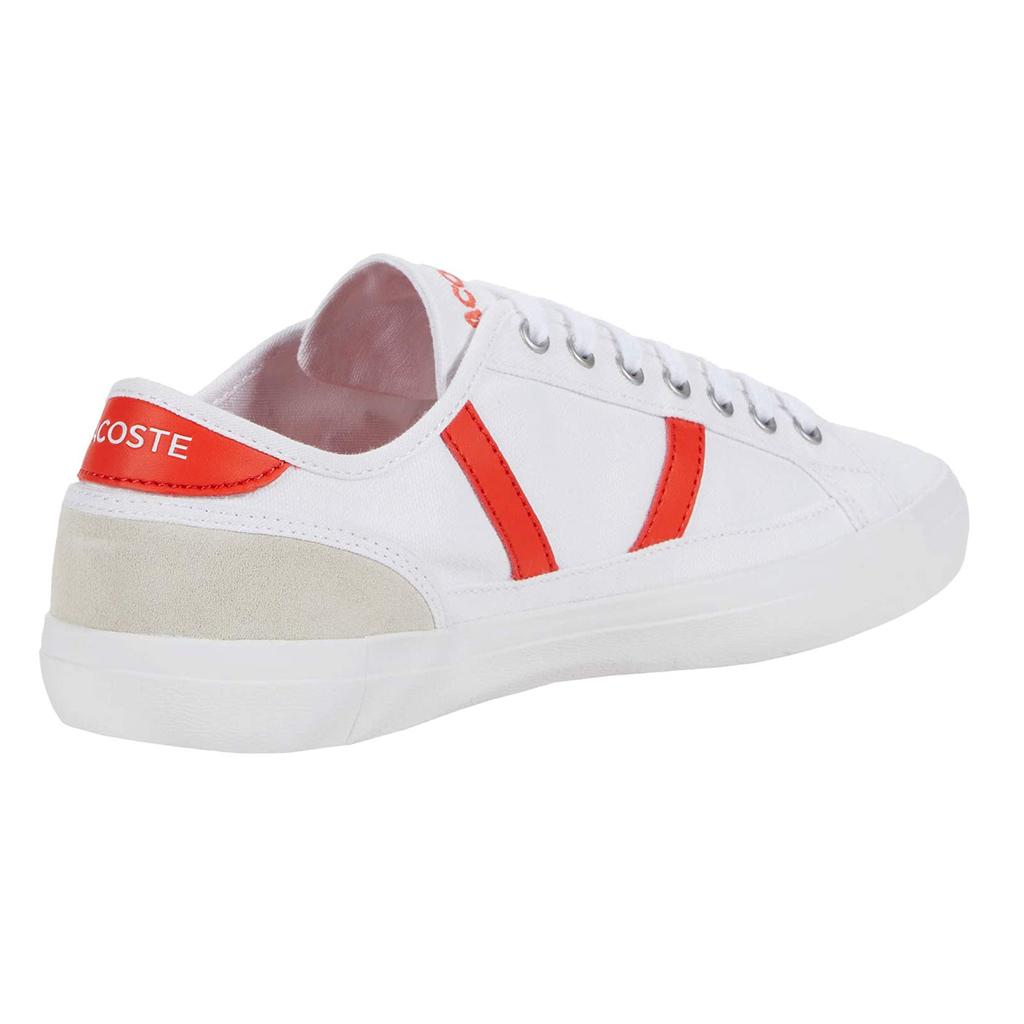 Giày Lacoste Sideline 120 – Trắng/Đỏ