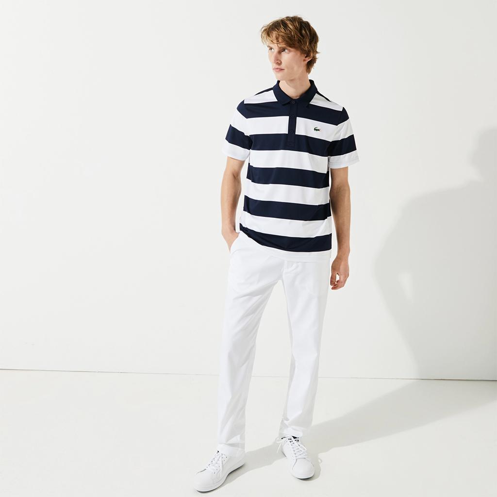 Áo Lacoste SPORT Striped (Regular) – Navy/Trắng