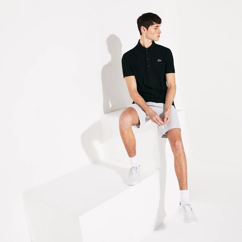 Áo Lacoste Mens SPORT Polo (Regular Fit) – Đen