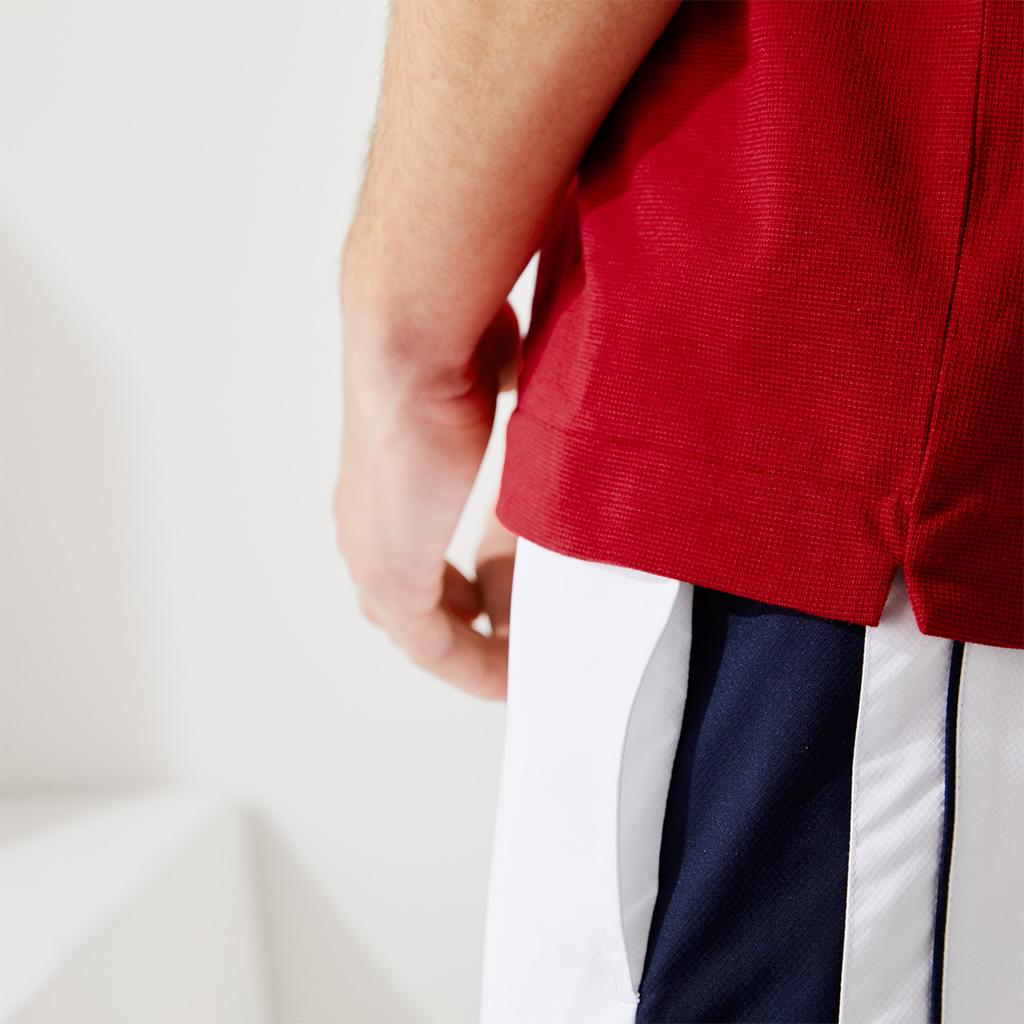 Áo Lacoste SPORT Ultra-Light Colourblock Tennis Polo – Navy/Trắng
