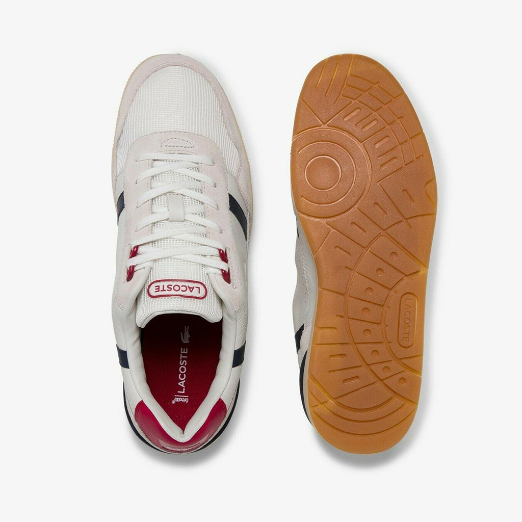 Giày Lacoste T-Clip Leather – Trắng sữa