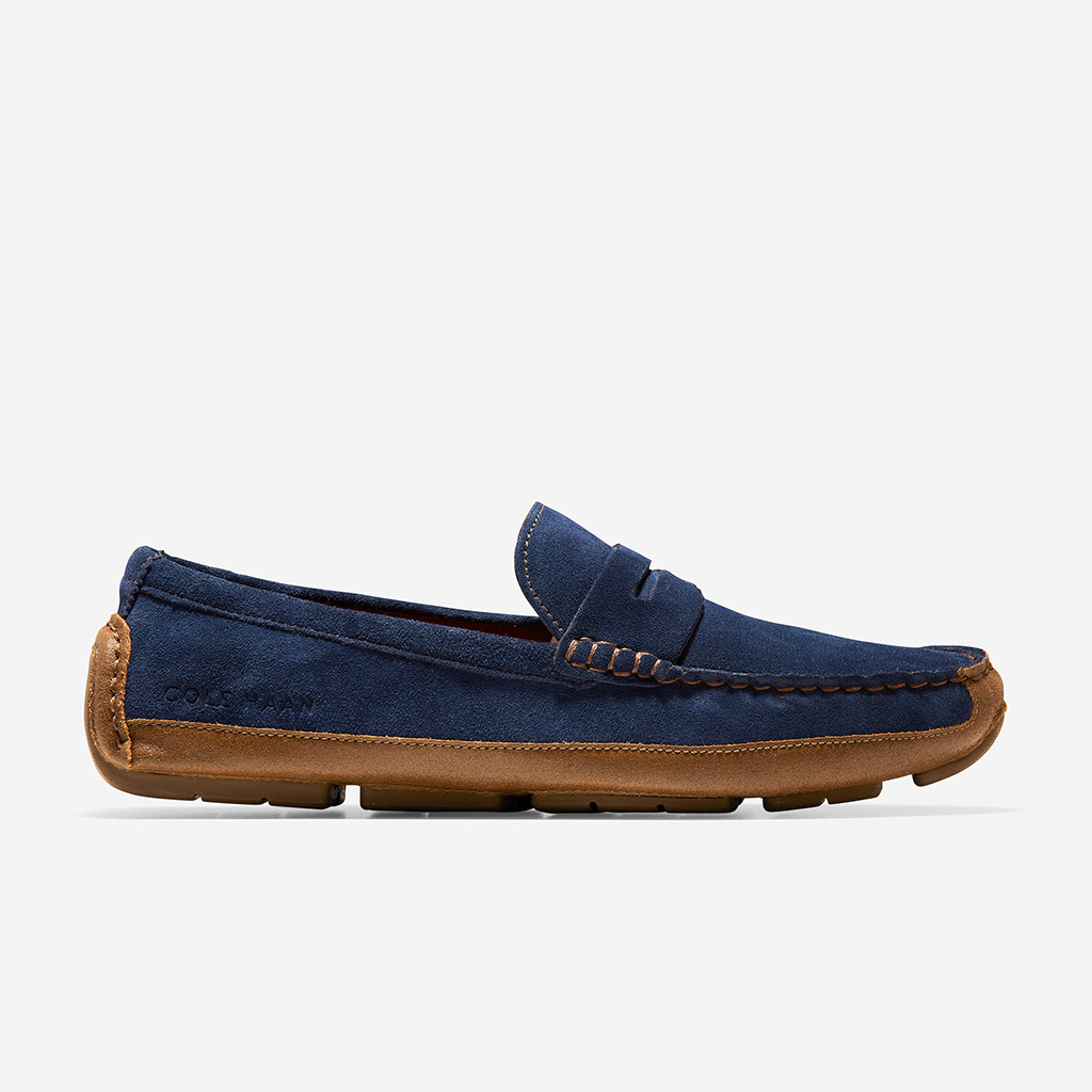 Giày Cole Haan Wyatt Penny (xanh navy)