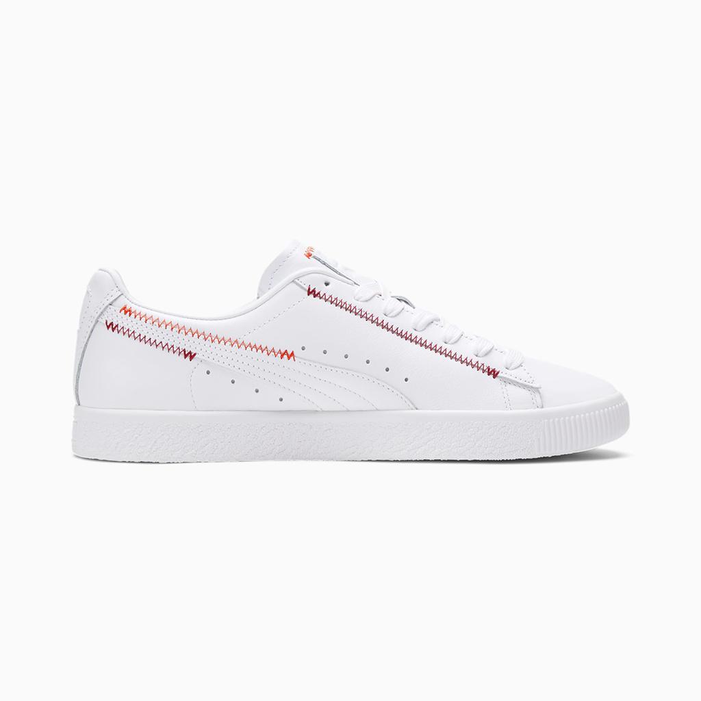 Giày Puma Clyde Stitch – Trắng