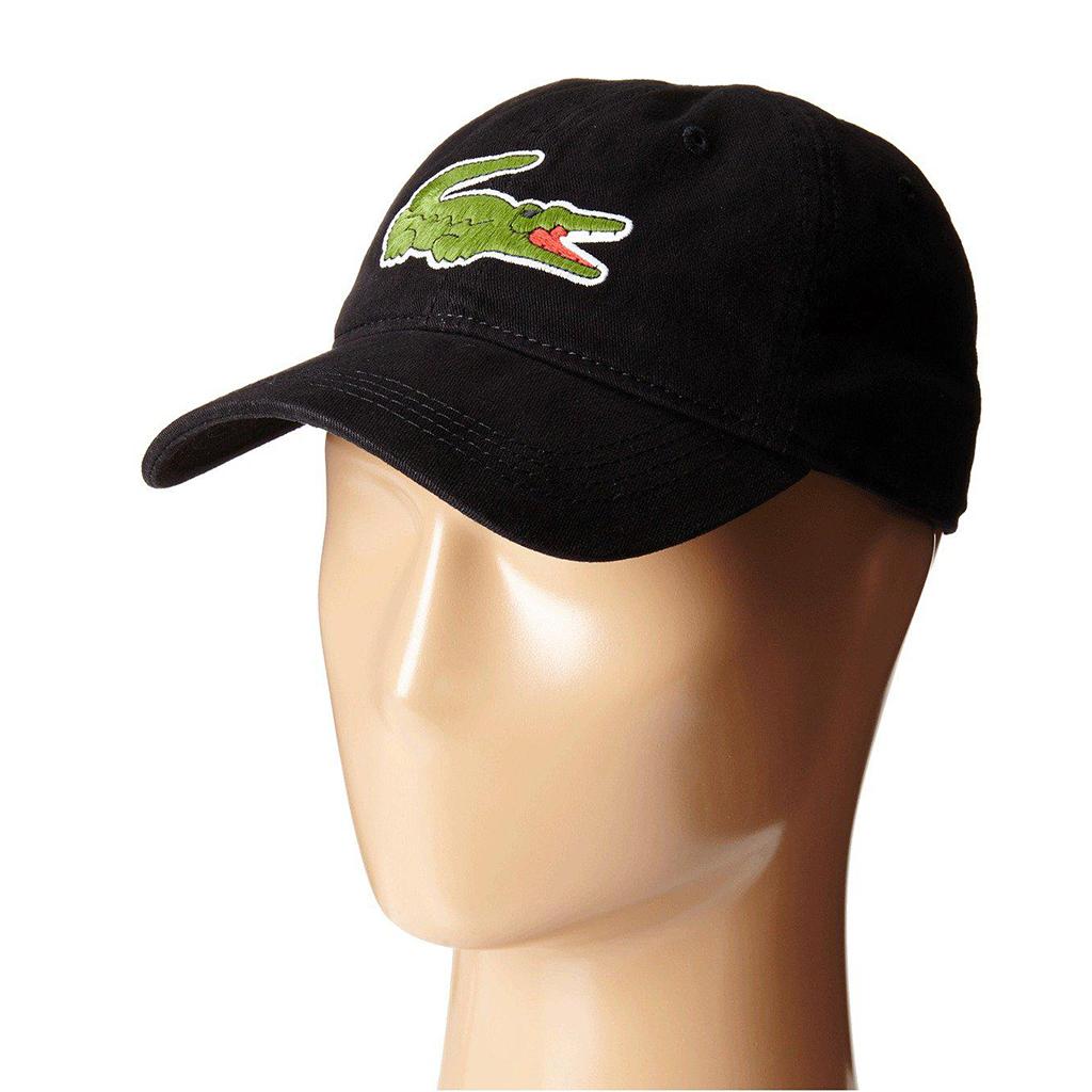 Mũ Lacoste Gabardine Big Crocodile (Đen)