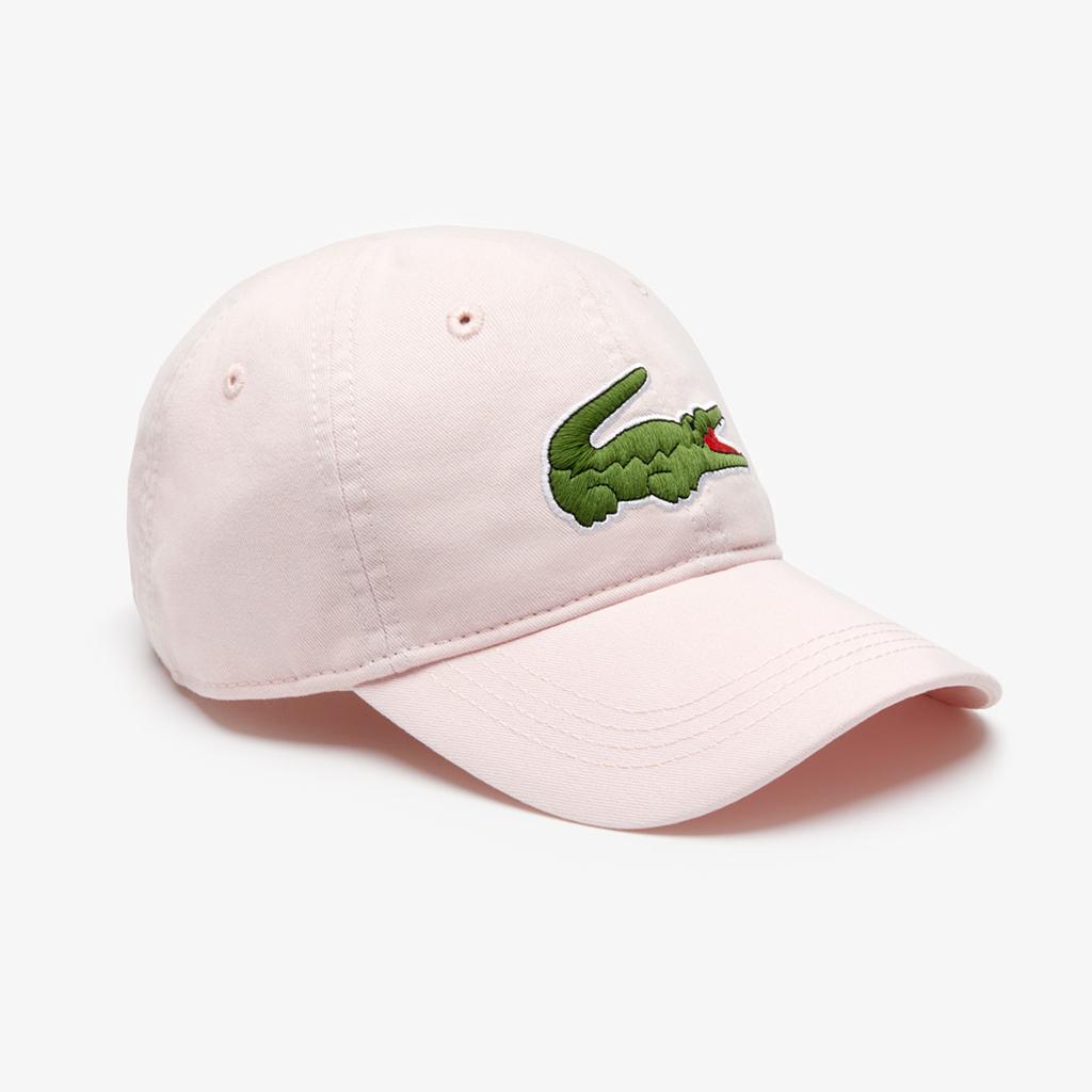Mũ Lacoste Gabardine Big Crocodile (Màu Hường)