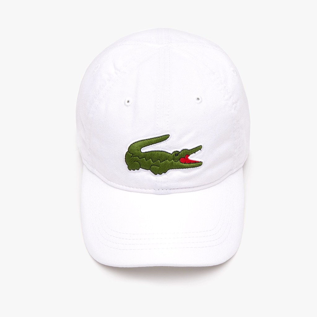 Mũ Lacoste Gabardine Big Crocodile (Trắng)