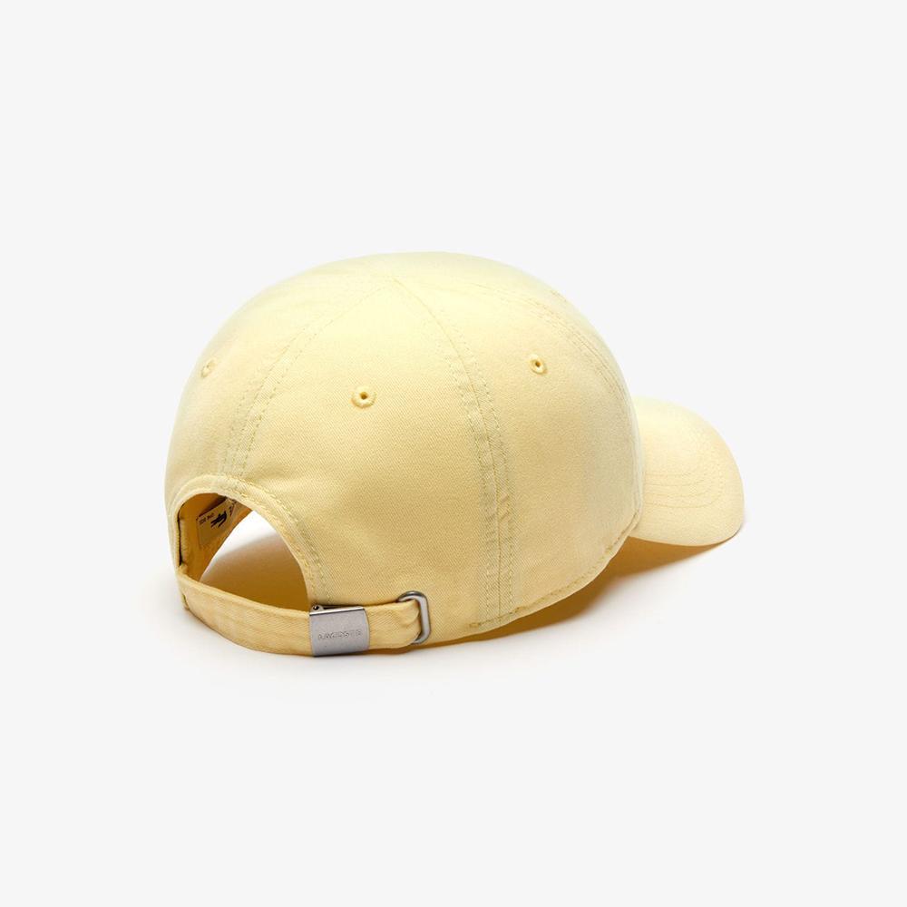 Mũ Lacoste Gabardine Big Crocodile (Vàng)