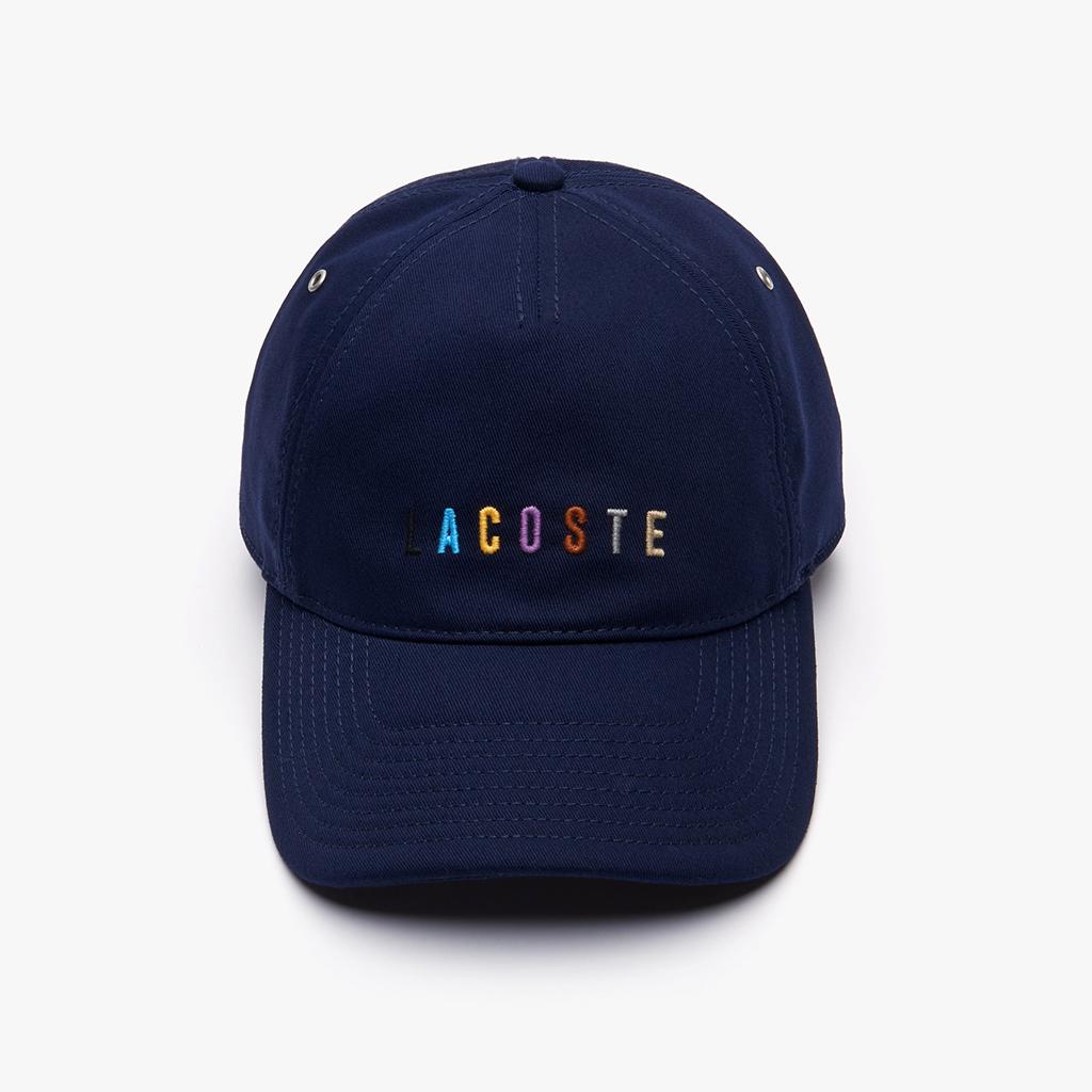 Mũ Lacoste Multicolored Logo Cotton – Xanh Navy