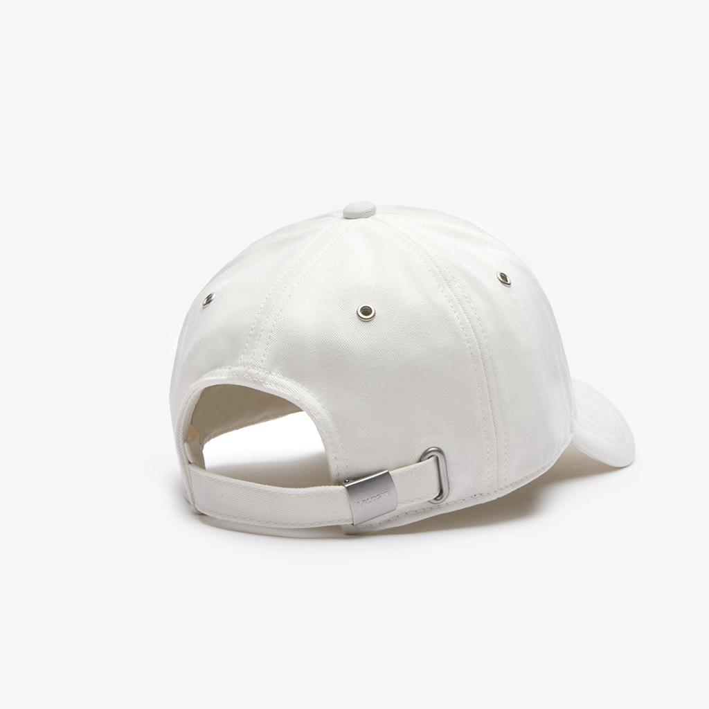 Mũ Lacoste Multicolored Logo Cotton – Trắng
