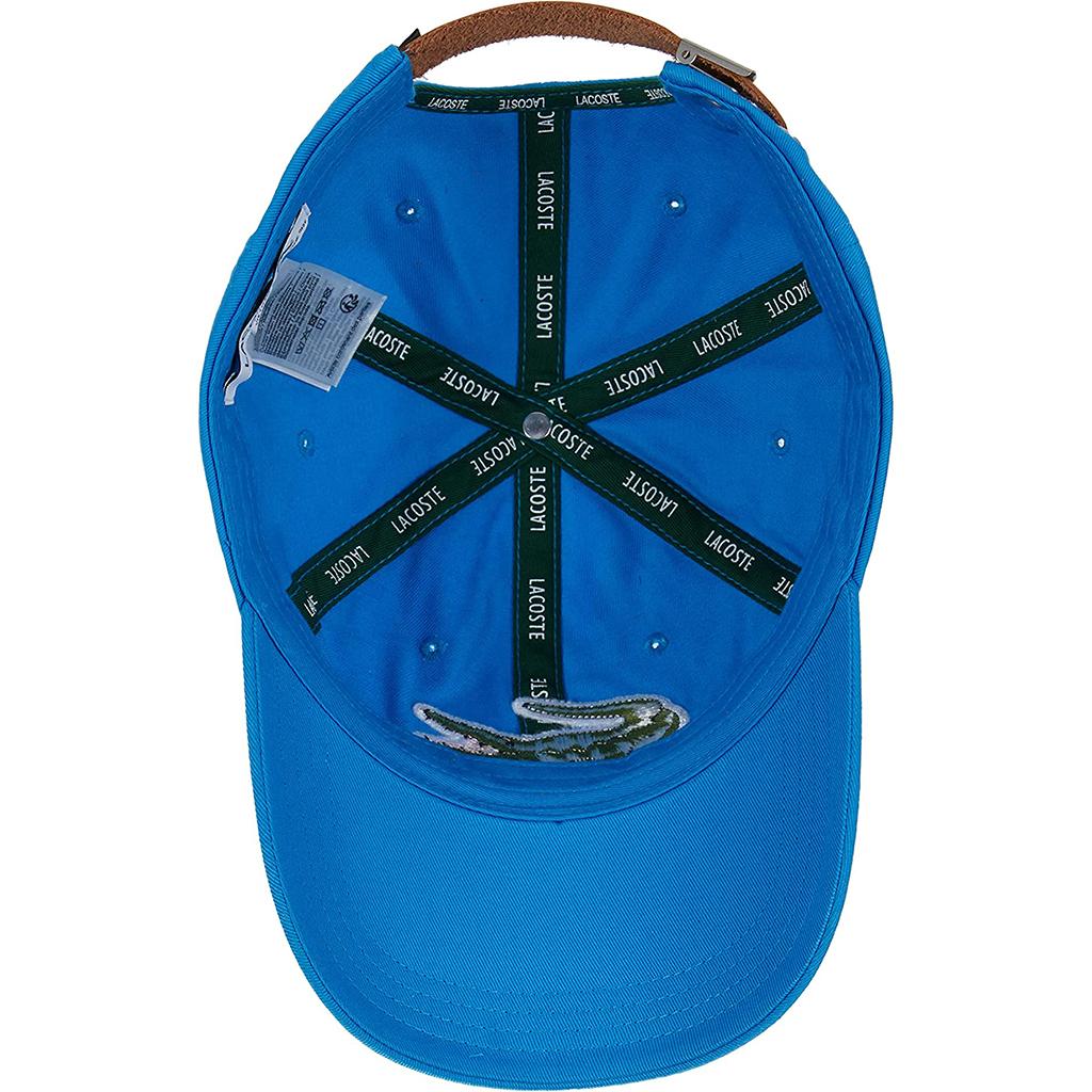 Mũ Lacoste Strap And Oversized Crocodile Cotton RK4711-51-PTV – Xanh blue