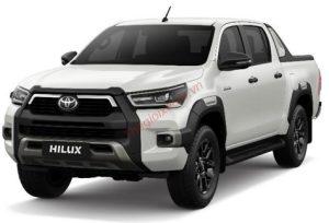 Toyota Hilux màu trắng ngọc trai (070)