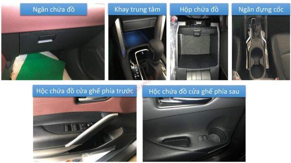 Các vị trí tiện ích trên Corolla Cross 2021