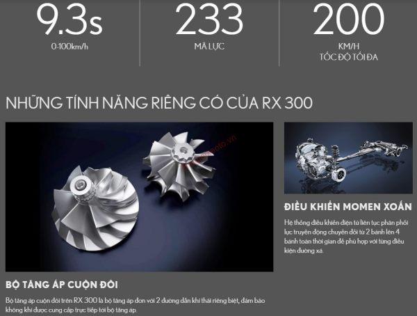 Động cơ và vận hành trên Lexus RX300 2021