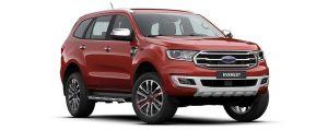 Ford Everest màu đỏ đun