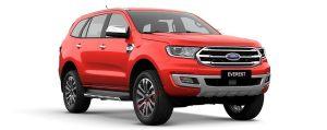 Ford Everest màu đỏ cờ