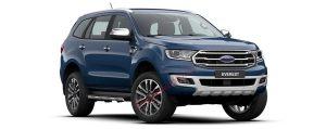 Ford Everest màu xanh pha lê
