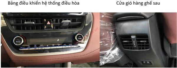 hệ thống điều hòa trên Corolla Cross 2021