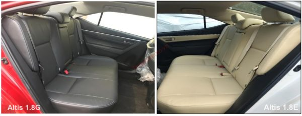 màu nội thất Toyota Altis 2021