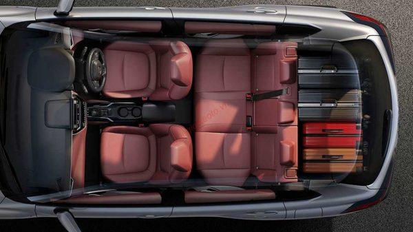 cách bố trí hàng ghế Toyota Corolla Cross 2021
