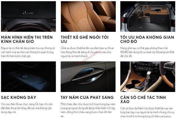 Đánh giá nội thất Lexus RX 450H 2020