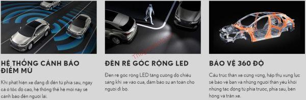 Tính năng an toàn trên Lexus RX300 2021
