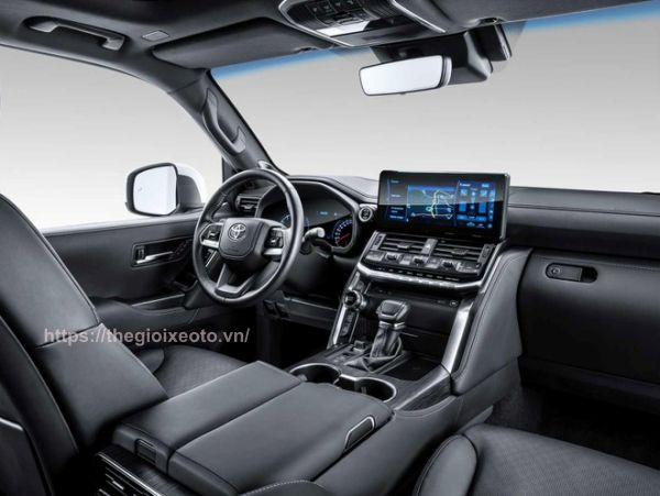 nội thất đen Toyota Land Cruiser 2022