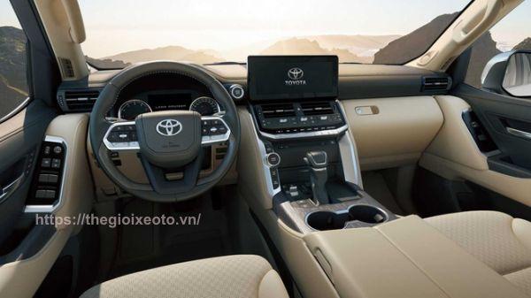 Toyota Land Cruiser 2022 nội thất kem