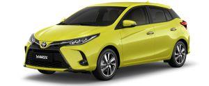 Toyota Yaris màu vàng chanh (6W2)