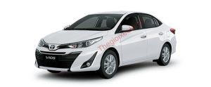 Toyota Vios màu trắng
