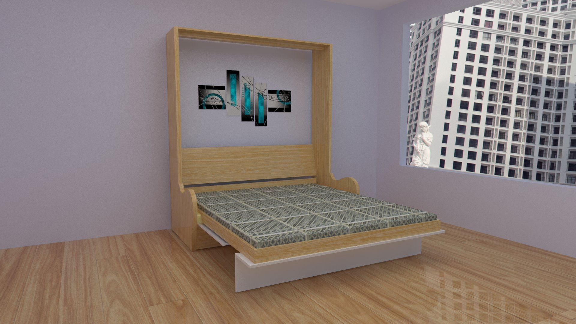 Giường gấp thông minh giá rẻ bóng bền