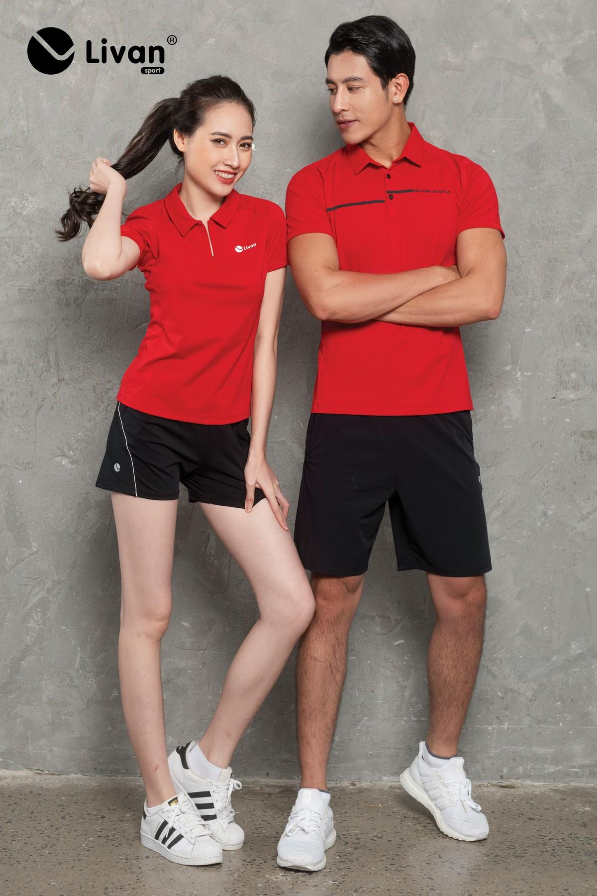 Áo Polo nam cổ vải màu đỏ LV20221021