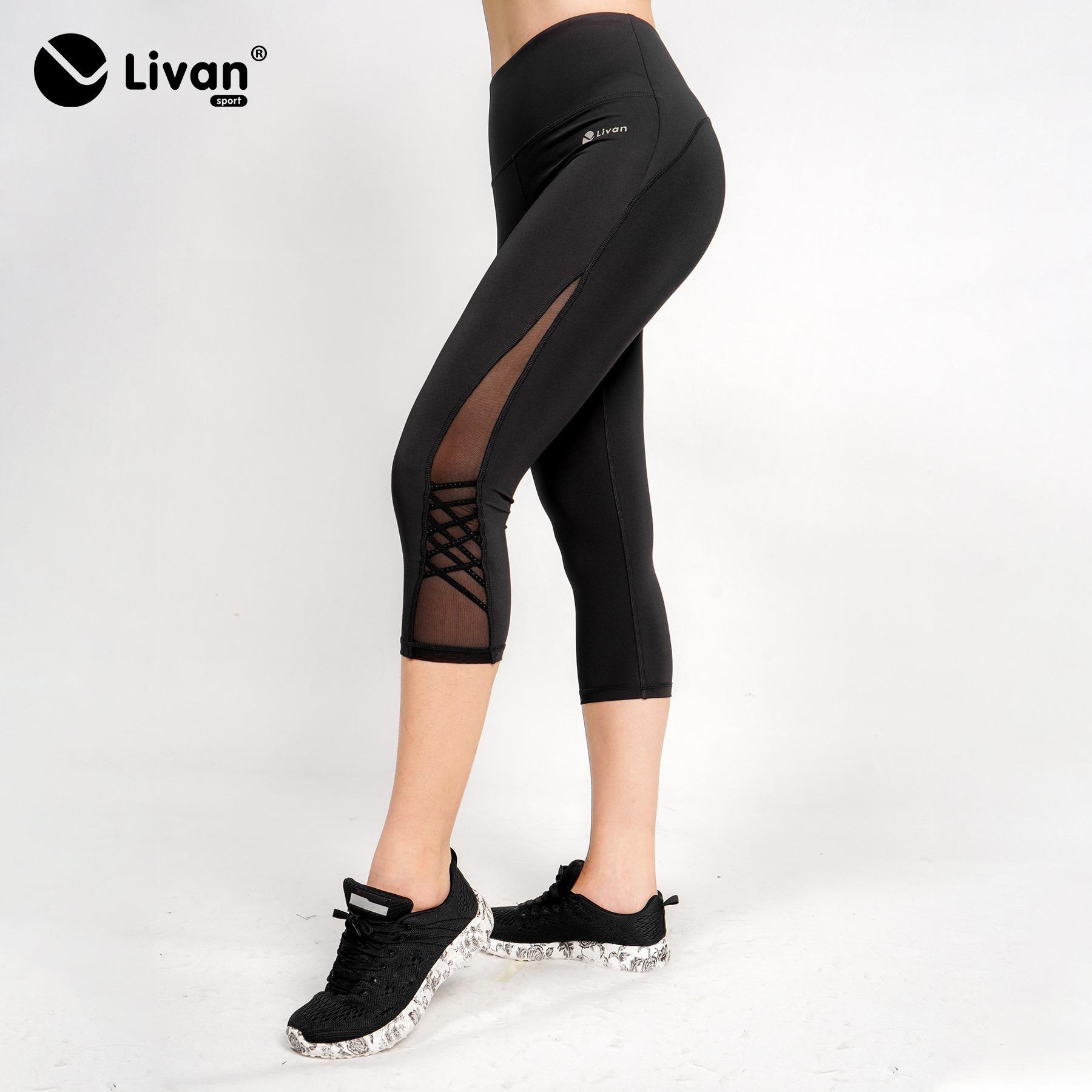 Quần legging lửng phối lưới LV21210101