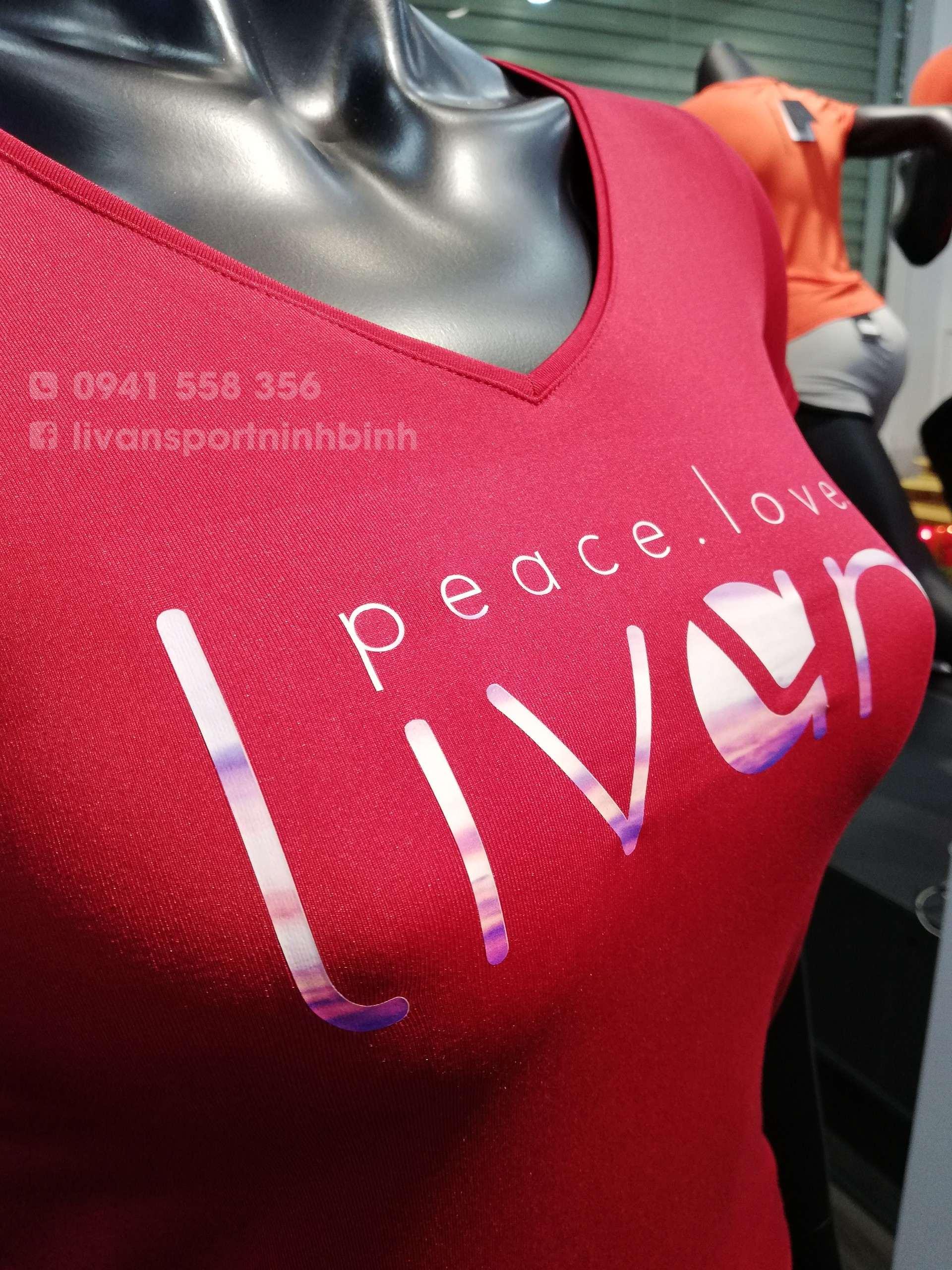 Áo T shirt nữ phối lưới màu đỏ 2111106