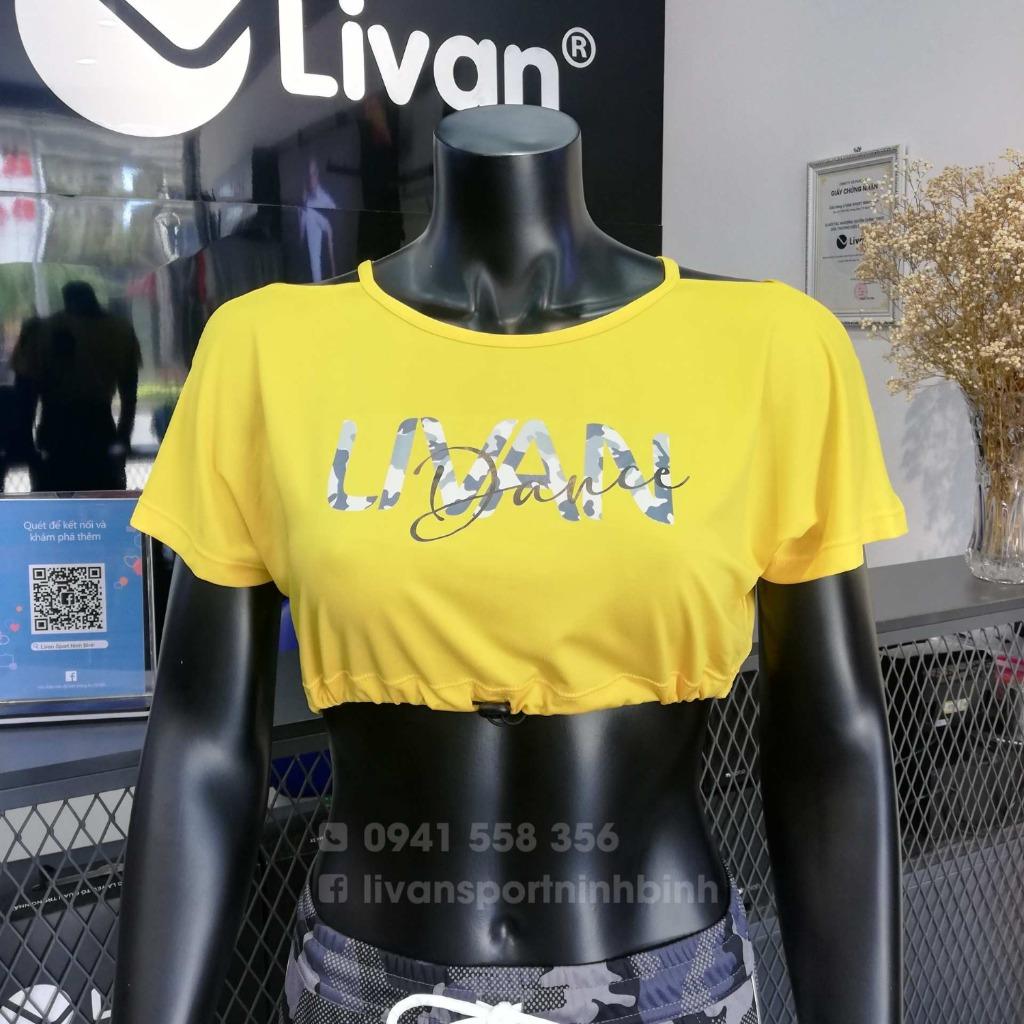 Áo croptop LV màu vàng Livan LV202111109
