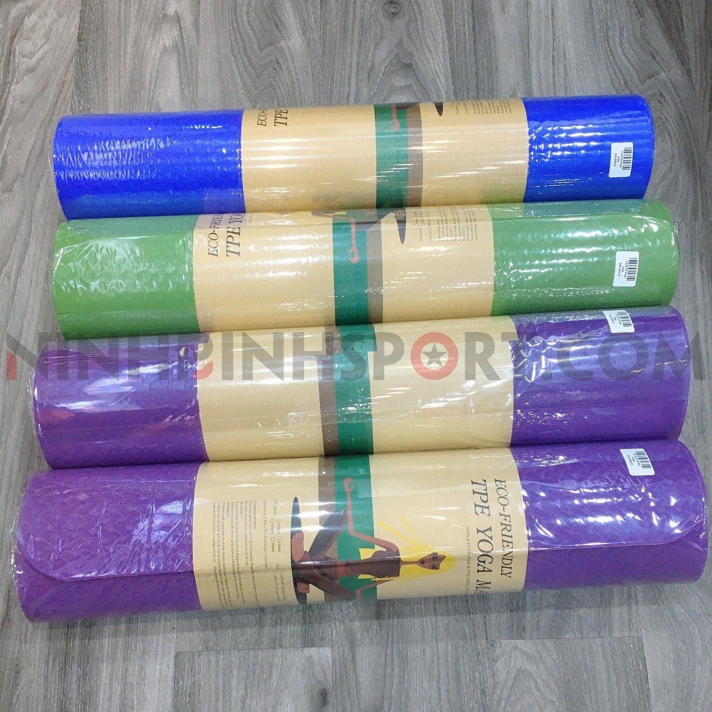Thảm tập yoga cao cấp TPE 6mm 2 màu 215075