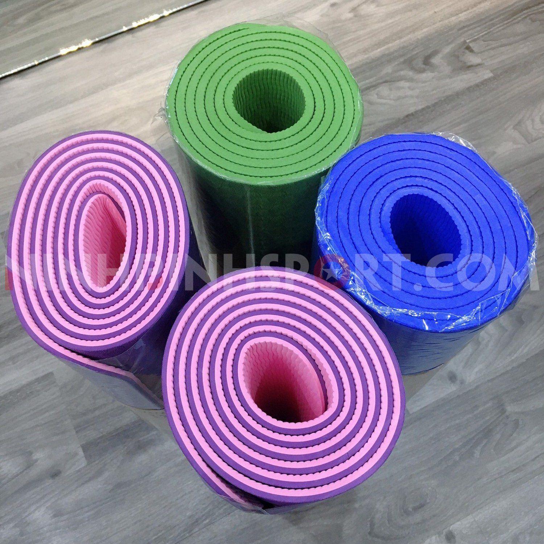 Thảm tập yoga cao cấp TPE 6mm 1 màu 215074