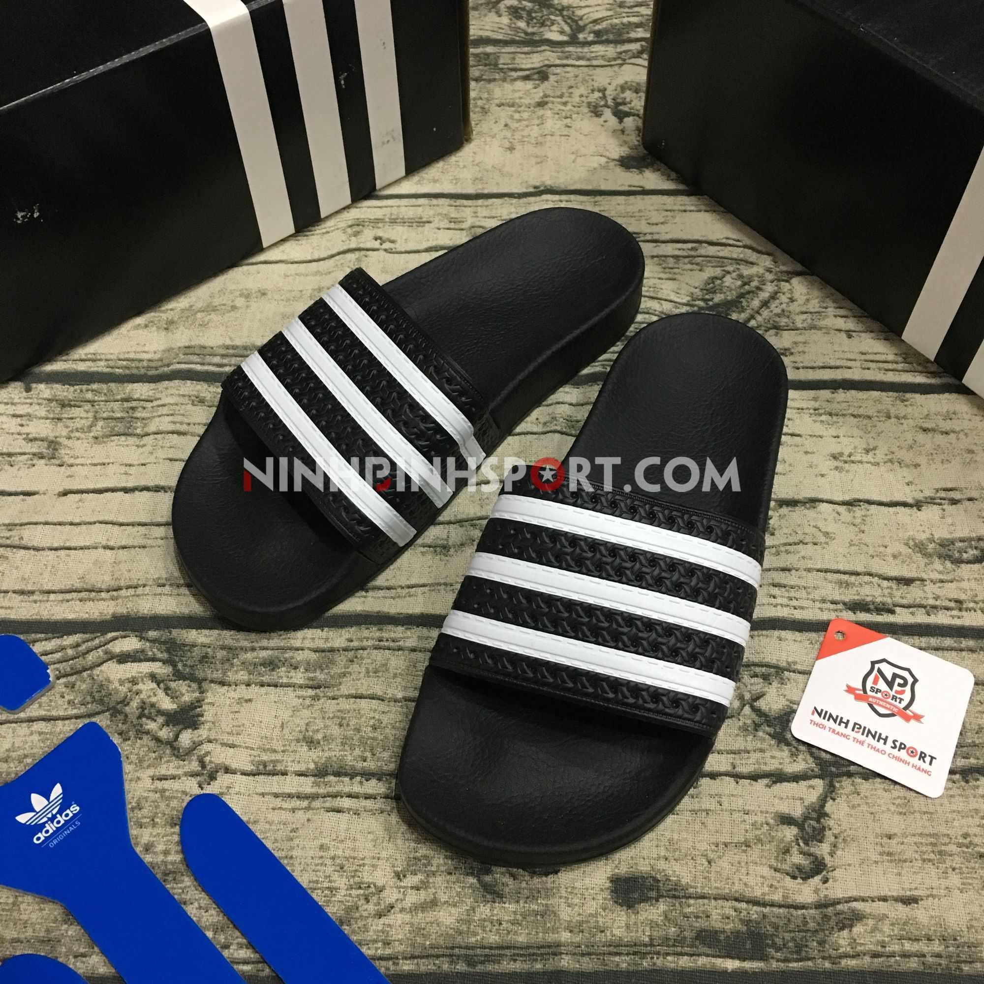 Dép thể thao nam Adidas Adilette Slides - Black 280647